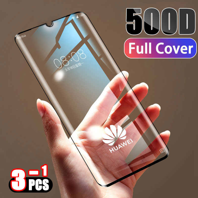 500D Tempered Full Cover Protective Glass on For Huawei P30 P20 Lite Pro Screen Protector Film For Mate 20 10 9 Lite Pro Glass 1