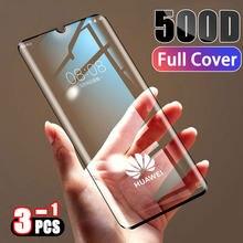 Protecteur d'écran, Film à couverture complète en verre trempé 500D pour Huawei P30 P20 Lite Pro Mate 20 10 9 Lite Pro