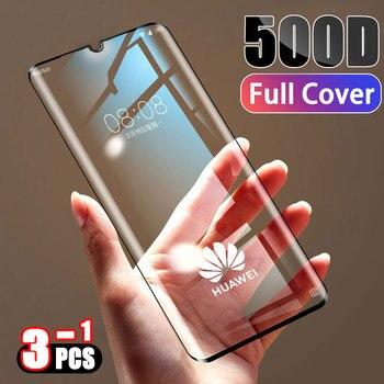 Закаленное стекло 500D с полным покрытием, защитная пленка для huawei P30 P20 Lite Pro mate 20 10 9 Lite Pro