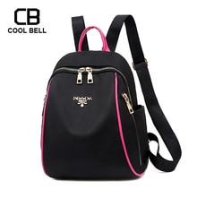Casual Grils Schoolbag Waterproof Backpack Women Black Pink Cute School For Sprot Female Travel Bag