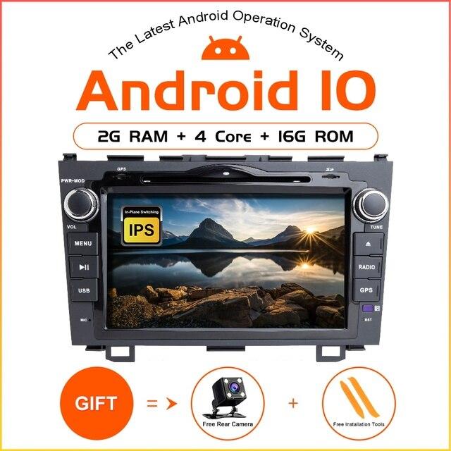 ZLTOOPAI  Android 10 Car Multimedia Player For Honda CRV 2007 2012 Car GPS Radio Stereo DVD Player Car Play IPS DSP
