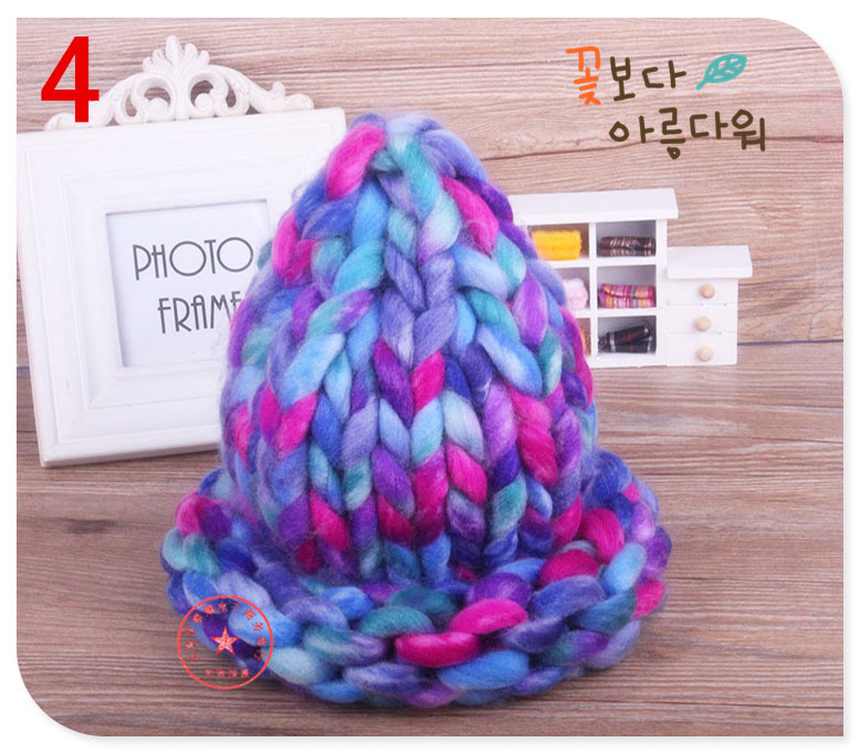 2019 Women Knitted Winter Hats Twist Thick Warm Women Cap Large Knitted Coarse Lines Cable Hats For Women Beanie Skully Female