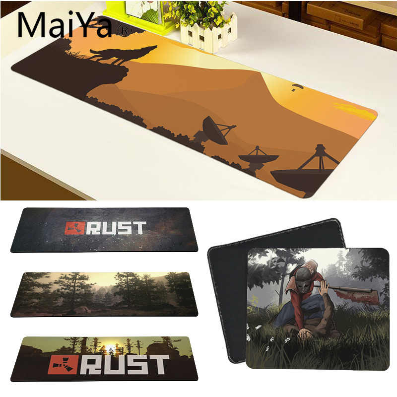 Maiya Top Quality Game Rust Gaming Player desk laptop Rubber Mouse Mat Free Shipping Large Mouse Pad Keyboards Mat