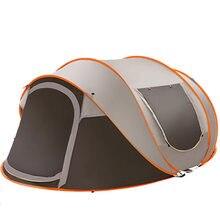 Grande tente de Camping ultralégère pour 3-4 personnes, abri étanche au vent, tentes de voyage et de randonnée automatiques, 280x200x120cm