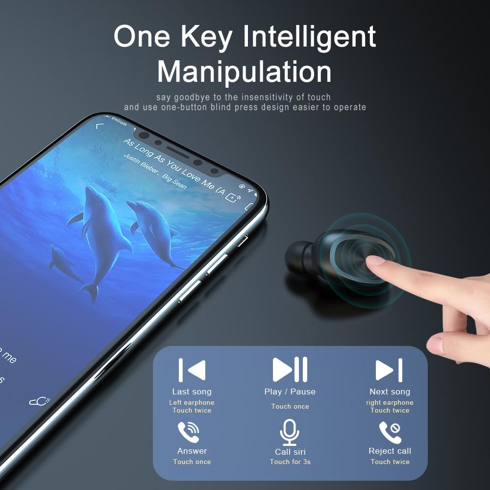 Image 3 - SIMVICT W1 TWS Bluetooth 5.0 Earphones Wireless Running Earbuds HIFI Stereo Earphone In ear Sports Headset with Mic for PhoneBluetooth Earphones & Headphones   -