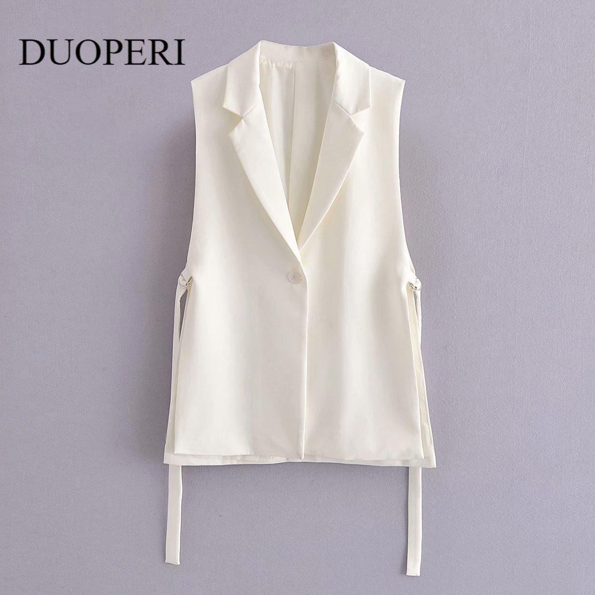 2021 Jacket Women Blazer Gilet Sleeveless Vest Fashion Casual Streetwear za Woman Waistcoat Tops veste femme