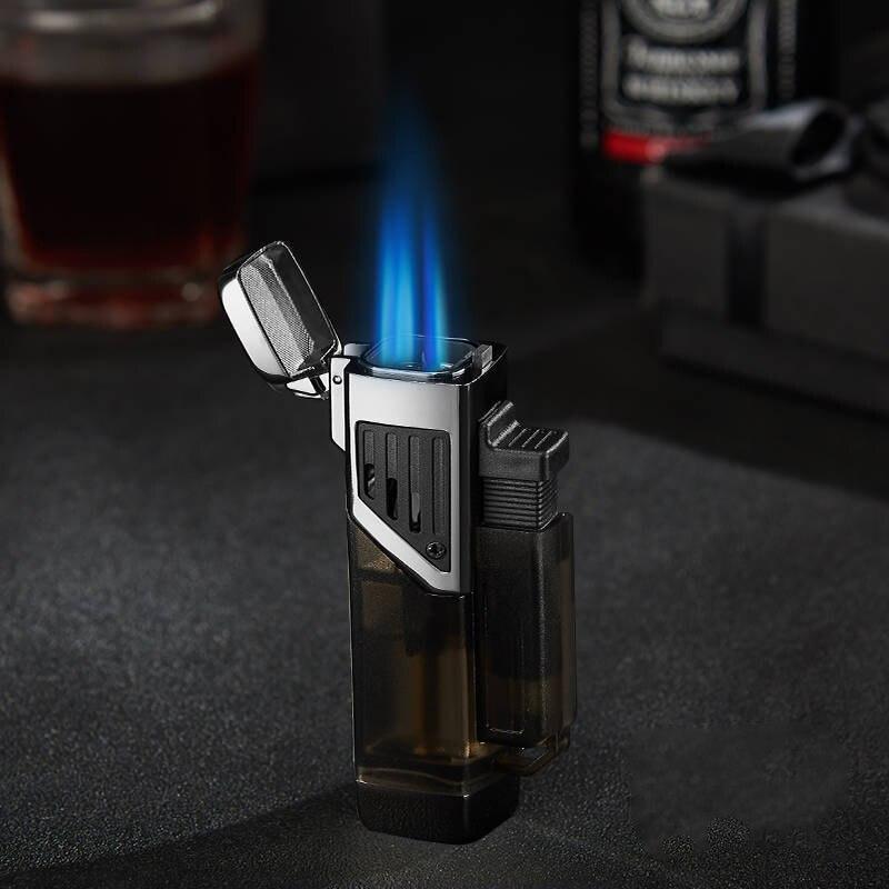 Супер Firepower четыре турбофонарь жигалки Бутановая металлическая газовая зажигалка зажигалки для сигарет аксессуары для курения гаджеты для...