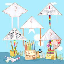 Free Shipping Outdoor Fun Sports 2019NEW Diamond DIY Kite / Kids Kite / Kite With Handle And Education line Good flying цена в Москве и Питере