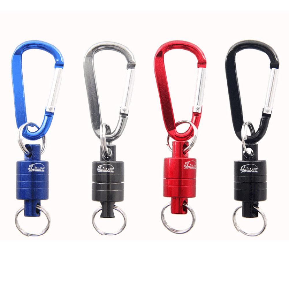 Magnetic Carabiner Fishing Keychain Snap Clip Lock Buckle Hook Carabiner Fishing Tool Outdoor Camping Supplies