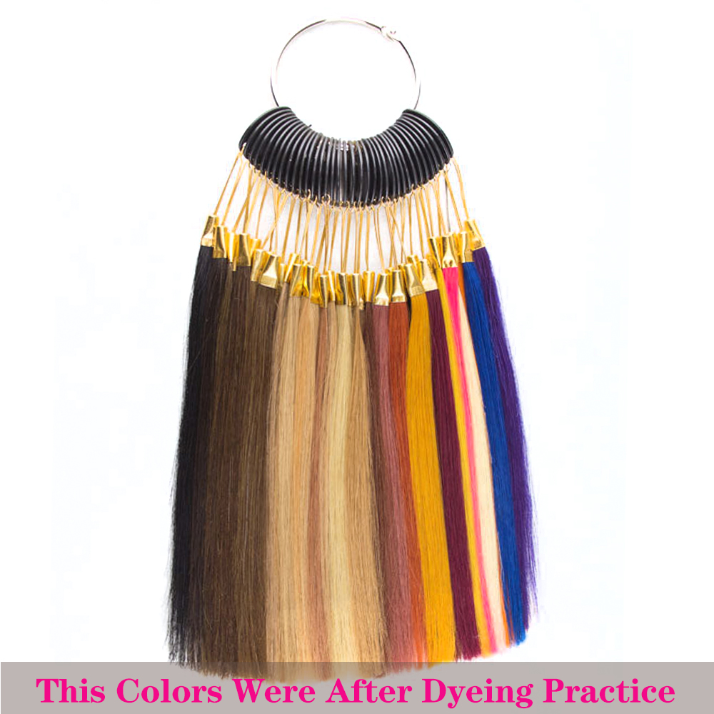 Tinashe Beauty Human Hair Color Rings For Dyeing Hair Practice For Salon Test Strands of Hair Coloring Swatches Polishing
