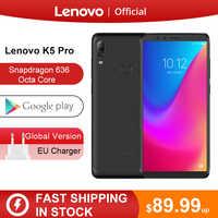 Oryginalna wersja globalna Lenovo K5 Pro 6GB RAM 64 GB/128 GB Snapdragon 636 octa core cztery kamery 5.99 cala 4G smartphone lte