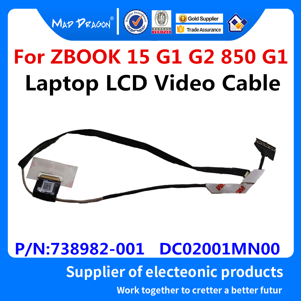 New Original Laptop LCD Video Cable For <font><b>HP</b></font> ZBOOK 15 <font><b>G1</b></font> ZBook 15 G2 EliteBook <font><b>850</b></font> <font><b>G1</b></font> LCD cable P/N: 738982-001 DC02001MN00 image