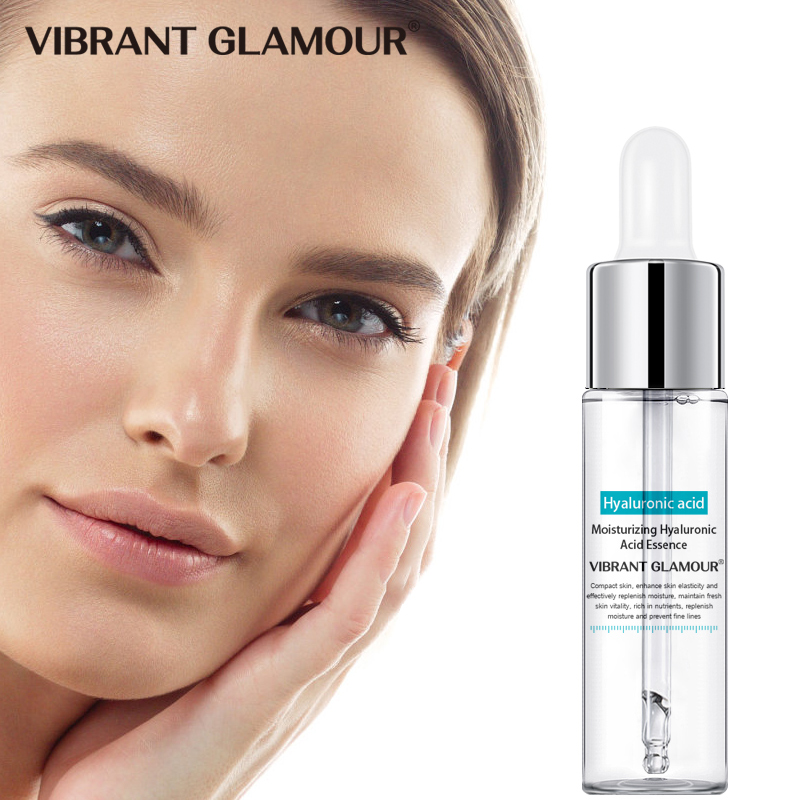 VIBRANT GLAMOUR Hyaluronic Acid Shrink Pores Facial Serum Whitening Moisturizing Essence Liquid Tighting Brighten Face Skin Care