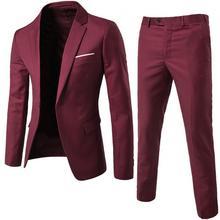 Blazers-Set Wedding Slim Lapel 80-% Button Business-Suit Classic Long-Sleeve Fashion