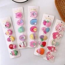 5 pçs novo coreano simples bonito acrílico animal duckbill clipe doce menina crianças bonito colorido barrettes acessórios de cabelo