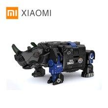 XIAOMI MIJIA 52 juguetes bestia serie Plan armadura Azul Especial policía modelo juguete figura de acción Robot deforme 5cm cubo regalo para niños