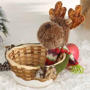 Image 5 - החג שמח סוכריות אחסון סל קישוט סנטה קלאוס אחסון סל מוצרים עבור חג המולד סוכריות מיכל מכירה לוהטת # R15