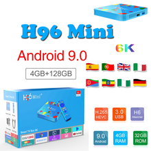 TV Box android.0 tv box H96 MINI 4GB 32GB/128GB H.265 6K 2.4G/5G Wifi Allwinner H6 Quad Core samart ip subscription
