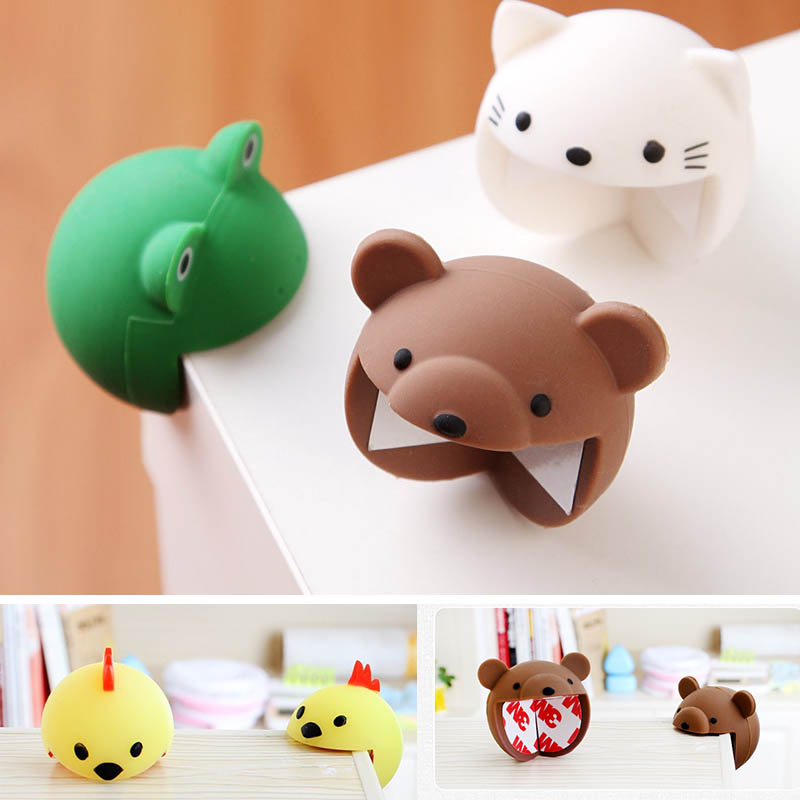 3pc Cartoon Baby Safety Silicone Protection Table Corners Edge Protection Cover Children Anticollision Edge & Guards Kids Safety