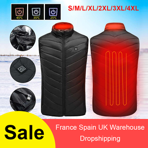 Winter Outdoor Men Electric Heated Vest USB Heating Vest Winter Thermal Cloth Feather Camping Hiking Warm Hunting Jacket VIP(China)