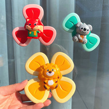 Suction Cup Spinner Toy For Babies Spinning Baby Rattle Fidget Toys Sensory Cartoon Insects Animals Suction Spinner Baby Toys