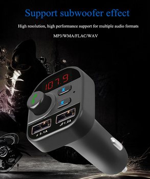 805E Double USB Car Charger 3.1A Auto Vehicle Charger Car Wireless Bluetooth MP3 Player FM Transmitter Receiver Handsfree Call image