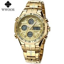 WWOOR Watch Men Luxury Big Dial Sports Watch