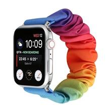 Elastic-Strap Watchband Pride-Band Accessories Scrunchie Bracelet Women for Apple 6-5/4