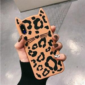 Capa de celular com estampa de oncinha, capa fofa de animais para gatos e iphone 7, 8, 6, 6s, x, xs, max xr capa de silicone macio retrô