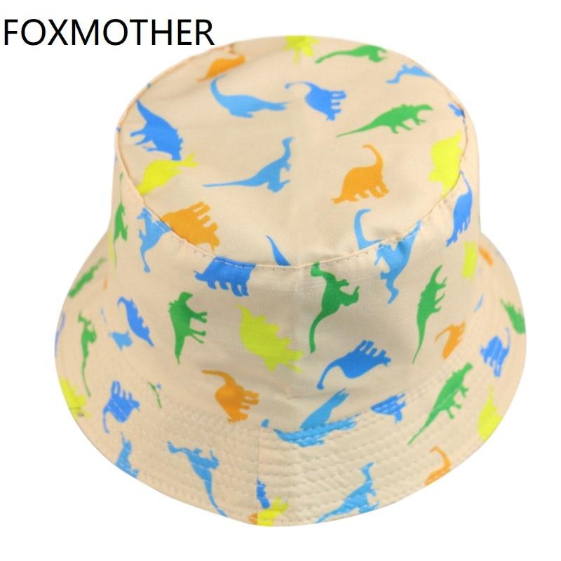 FOXMOTHER New Fashion Woman Cap Summer Dinosaur Fisherman Hats Fishing Caps Women Mens