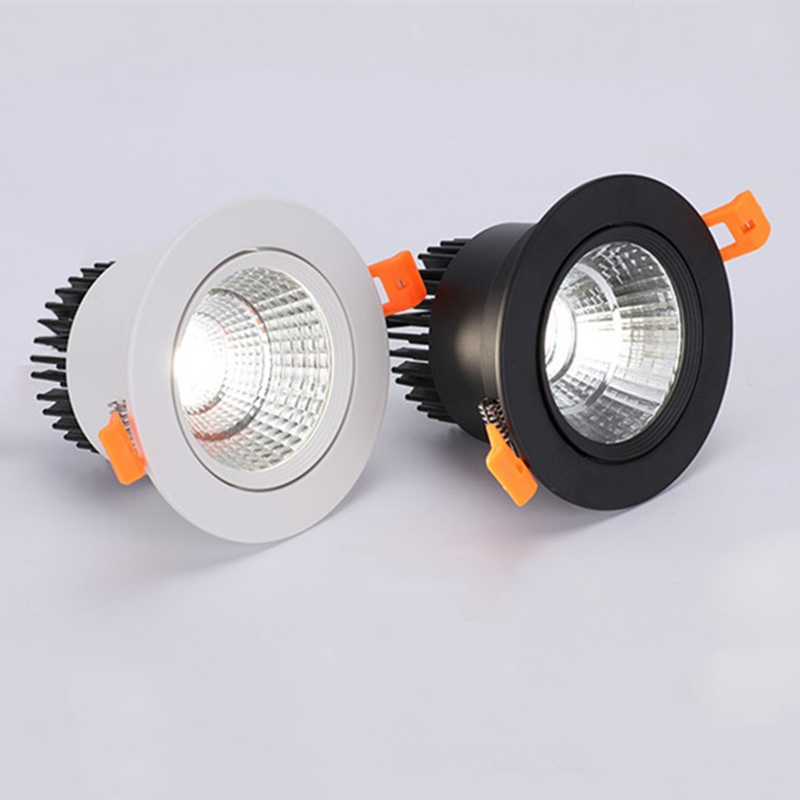 Super Bright Recessed LED Dimmable Downlight COB 3W 5W 7W 9W 12W 15W  LED Ceiling Spot Light LED Ceiling Lamp AC 110V 220V