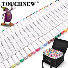 TouchNew-rotuladores de punta de cepillo de doble punta, 40/48/60/80/168 colores, marcadores de dibujo a base de Alcohol para artistas