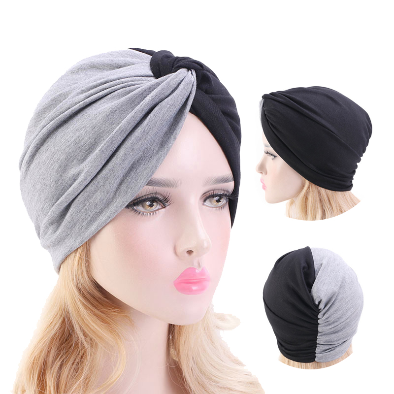 Muslim Head Scarves For Women Solid Cotton Inner Hijab Caps India Bonnet Vintage Cross Turban Hijabs Muslim Islamic Turbante Hat