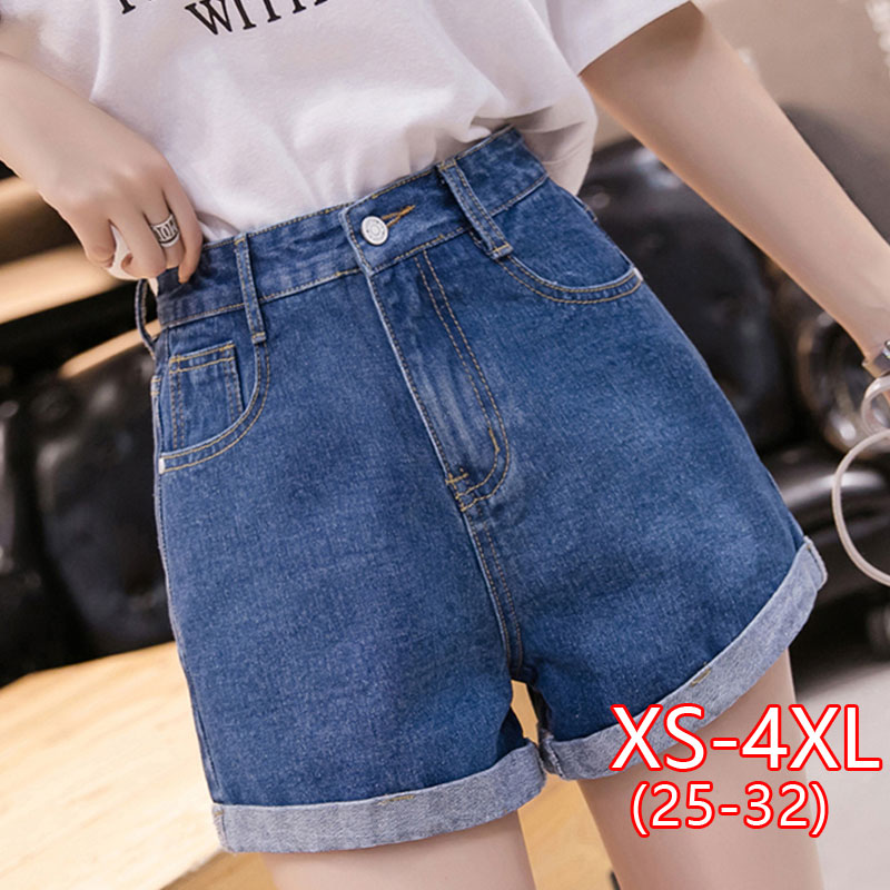 Women Loose Casual Denim Short New Korean Fashion High Waist Denim Shorts  Female High Waist Jean Short Woman Summer Plus Size