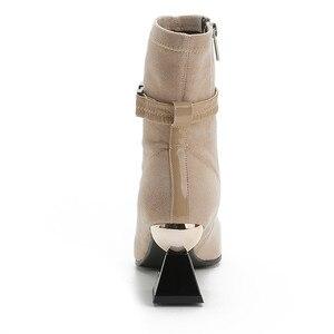 Image 3 - Morazora 2020 Hàng Mới Về Da Thật Chính Hãng Da Giày Nữ Mắt Cá Chân Giày Độc Đáo Giày Cao Gót Giày MÙA THU ĐẦM DỰ TIỆC Giày Người Phụ Nữ