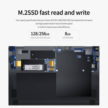 Laptop KUU XBook, 14.1″ FHD (1.920×1.080) IPS, Intel Celeron J4005, 8GB RAM, 256GB/512GB SSD, Ultra HD Graphics 600, Windows 10 4