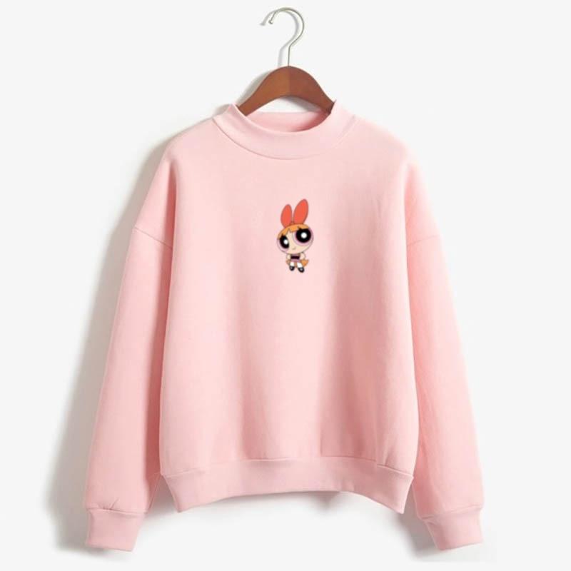 Kawaii  Blossom Bubbles BB Girls Sweatshirt  Casual Streetwear Harajuku Fashion Flecce Tops Hoodies Women Fashion Clothing