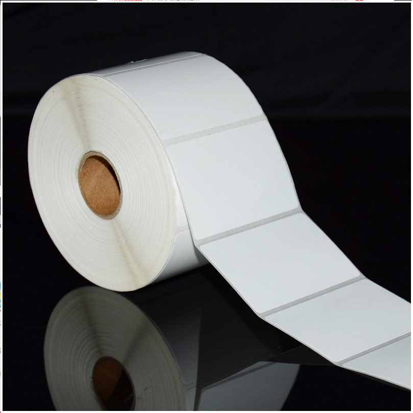 90*40mm*1000 Sticker Label Paper Bar Code Printing Paper Blank Copper Plate Label Paper Copper Sheet Pape