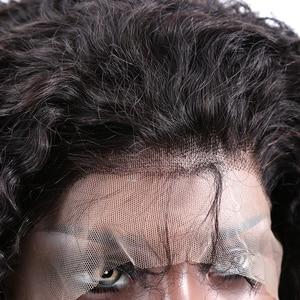 Image 5 - 150% remy preto curto encaracolado 13x4 frente do laço perucas de cabelo humano com o cabelo do bebê brasileiro mel loira bob peruca corte para a mulher preta