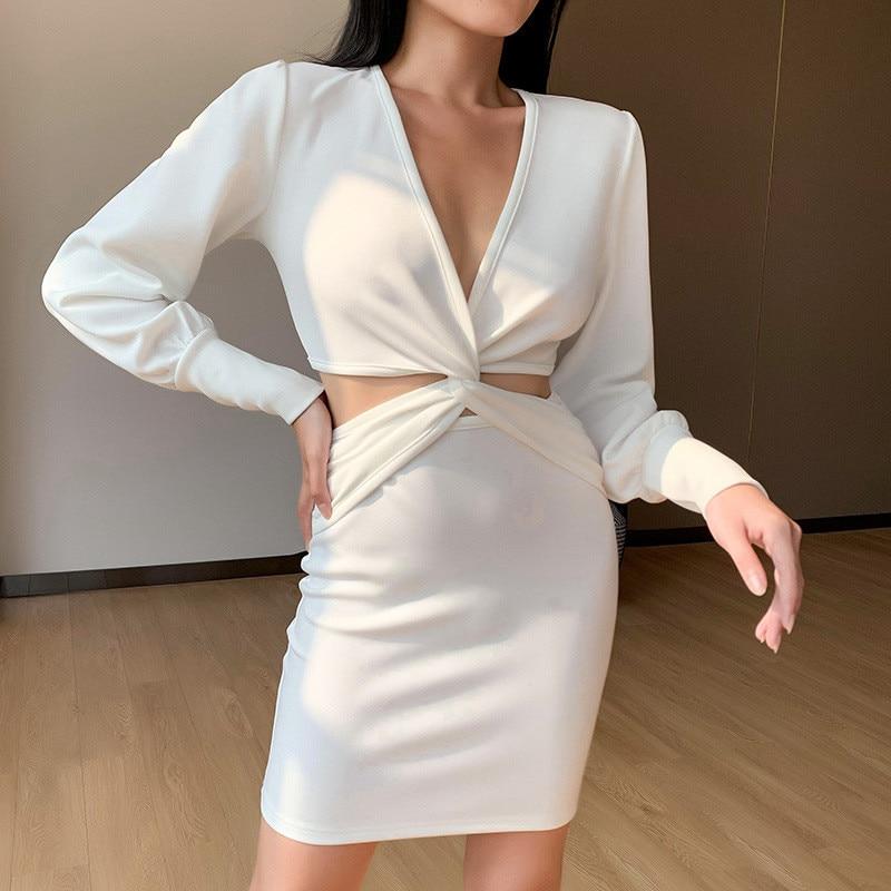 long sleeve white dress03