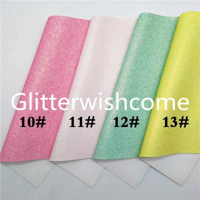 Glitterwishcome 21X29CM A4 גודל ניאון גליטר עור, בסדר גליטר עור בד עם רך קטיפה גיבוי עבור קשתות, GM846A