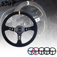 Универсальные гоночные рулевые колеса 14 дюймов 350 мм из замши/ПВХ