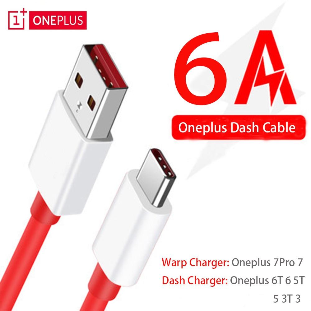 Oneplus 7 pro 7 warp original carregador rápido cabo 6a traço rápido usb tipo-c cabo de dados para um mais 6 t 6 5 t 5 telefone inteligente