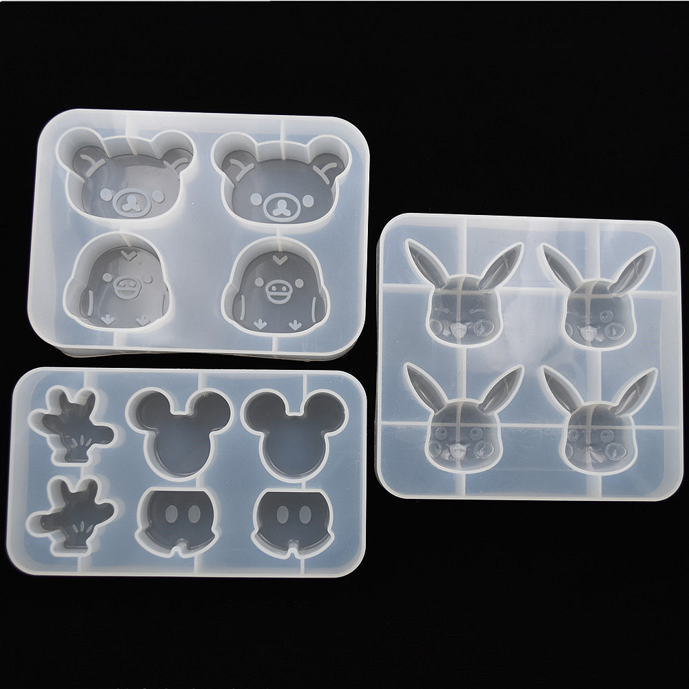SNASAN bear cute Mouse Silicone Mold for jewelry making Resin jewelry tool UV epoxy resin molds decorative crafts