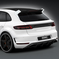 3PCS Carbon Fiber With FRP Rear Roof Lip Spoiler Wing For Macan 2014-2016 GSC Style