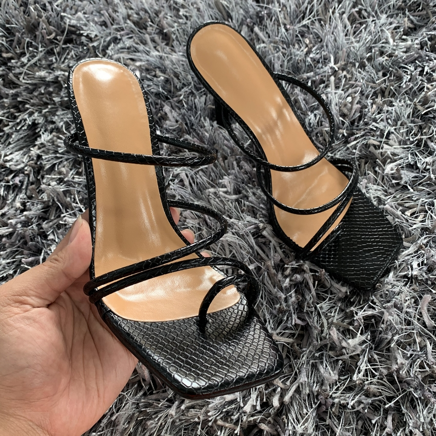 H9e36a4f41a96480f867defed1df3b240G - Summer Pumps New Sexy Gladiator Sandals Shoes Women Thin High Heels Open Toe Sandal Lady Ankle Strap Pump Shoes Size 35-42