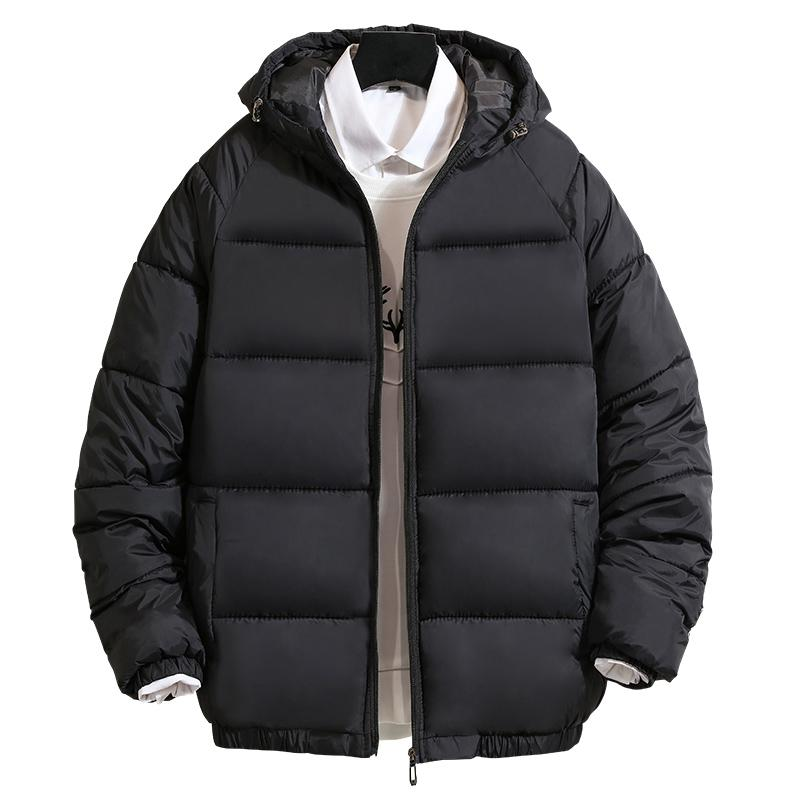 3XL Men Winter Casual New Hooded Thick Padded Jacket Zipper Slim Men And Women Coats Men Parka Outwear Warm