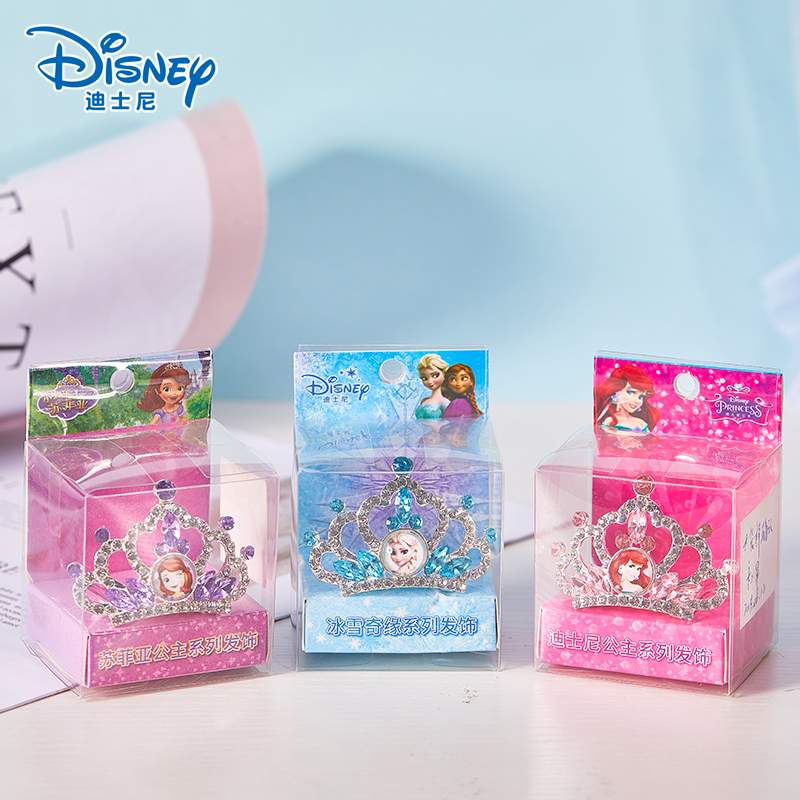 Disney Frozen Princess Crown Sofia Ariel Anna Elsa Crown Heart Jewel Disney Toys Kids Makeup Pretend Play Makeup Toys