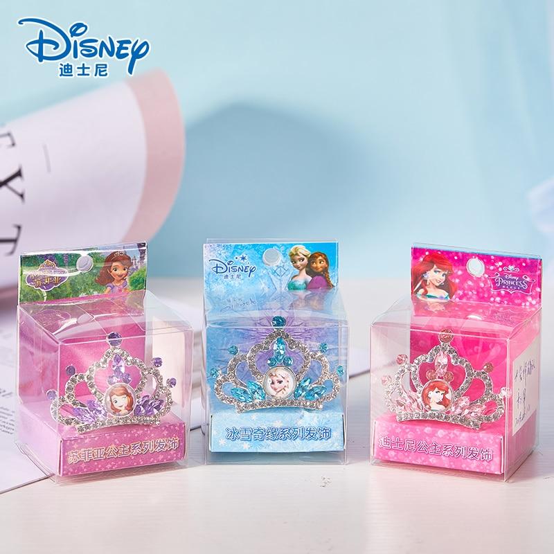 Disney reine des neiges princesse couronne Sofia Ariel Anna Elsa couronne coeur bijou Disney jouets enfants maquillage semblant jouer maquillage jouets