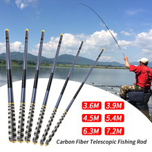 Telescopic Carbon Fiber Fishing Rod Hand Ultra Light Fishing Pole 3.6m-7.2m For Carp Fishing 1pcs цена и фото